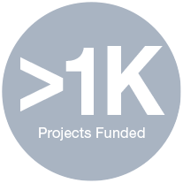 > 1K Projects Funded