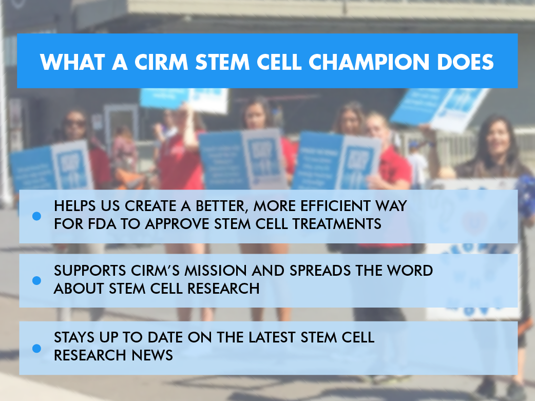 Stem Cell Champion Photo