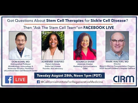 Facebook Live: Stem Cells and Sickle Cell Disease