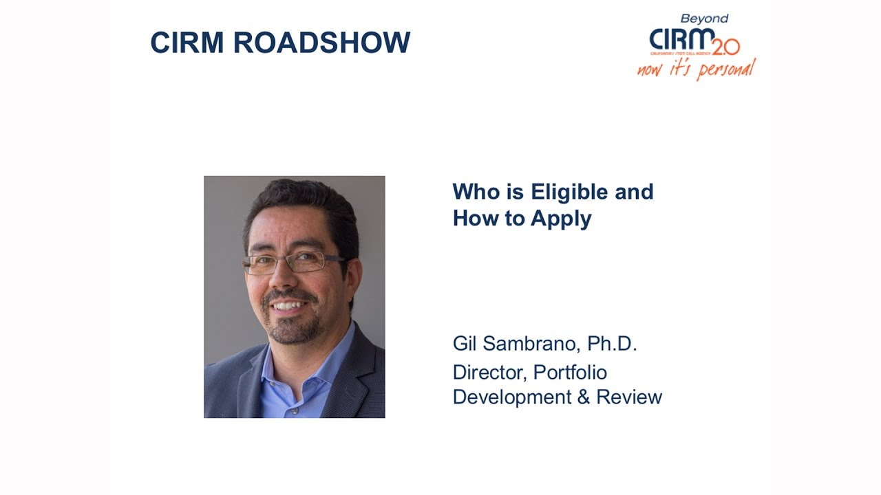 Who is Eligible & How to Apply for Stem Cell Research Funding at CIRM