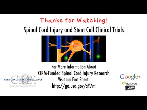 Spinal Cord Injury and Stem Cell Clinical Trials: What's the Latest?