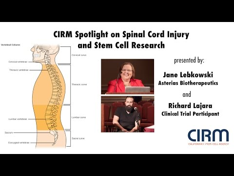 Spinal Cord Injury and a CIRM-Funded Stem Cell-Based Trial