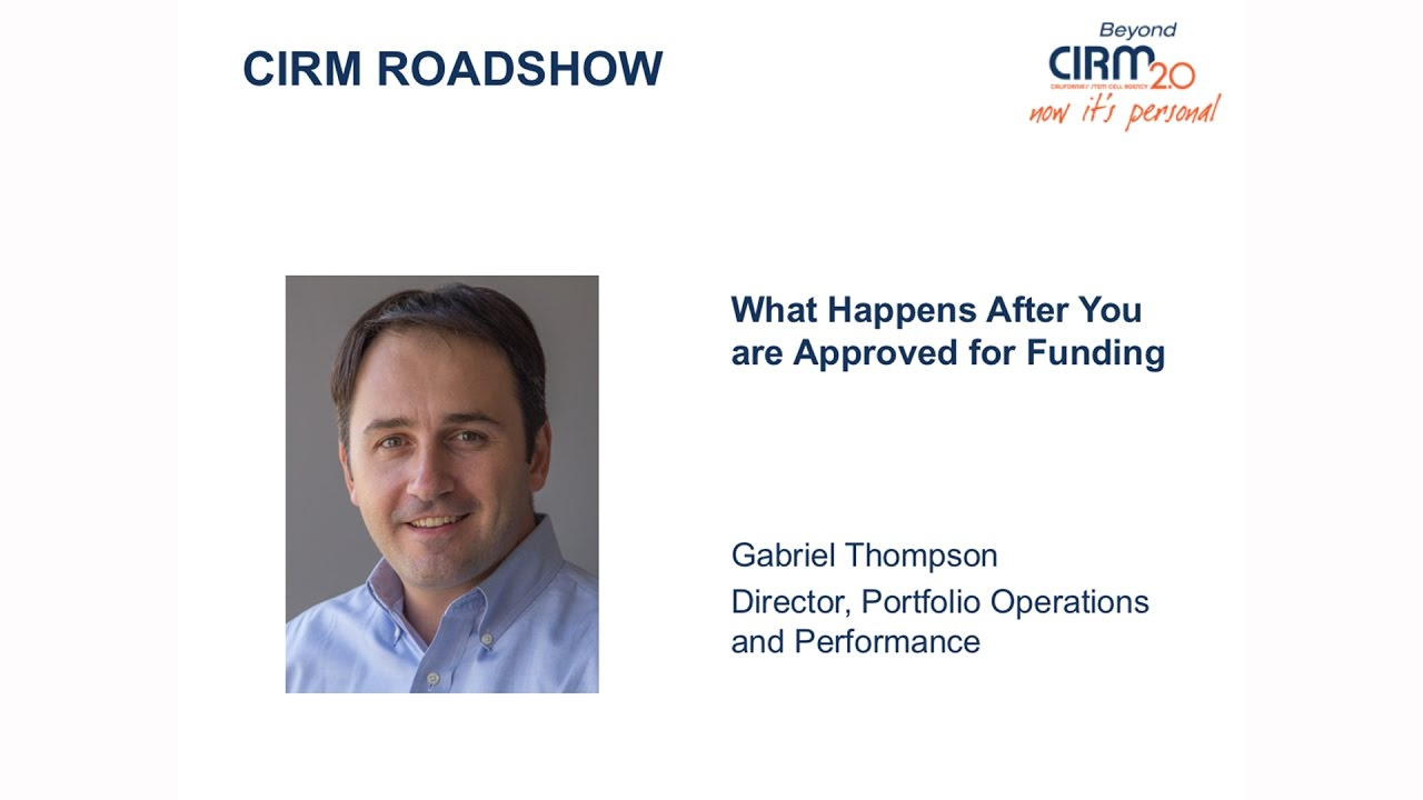 What Happens After You Win a Stem Cell Research Grant from CIRM?