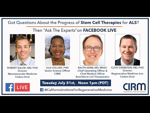 Facebook Live: Stem Cells and ALS