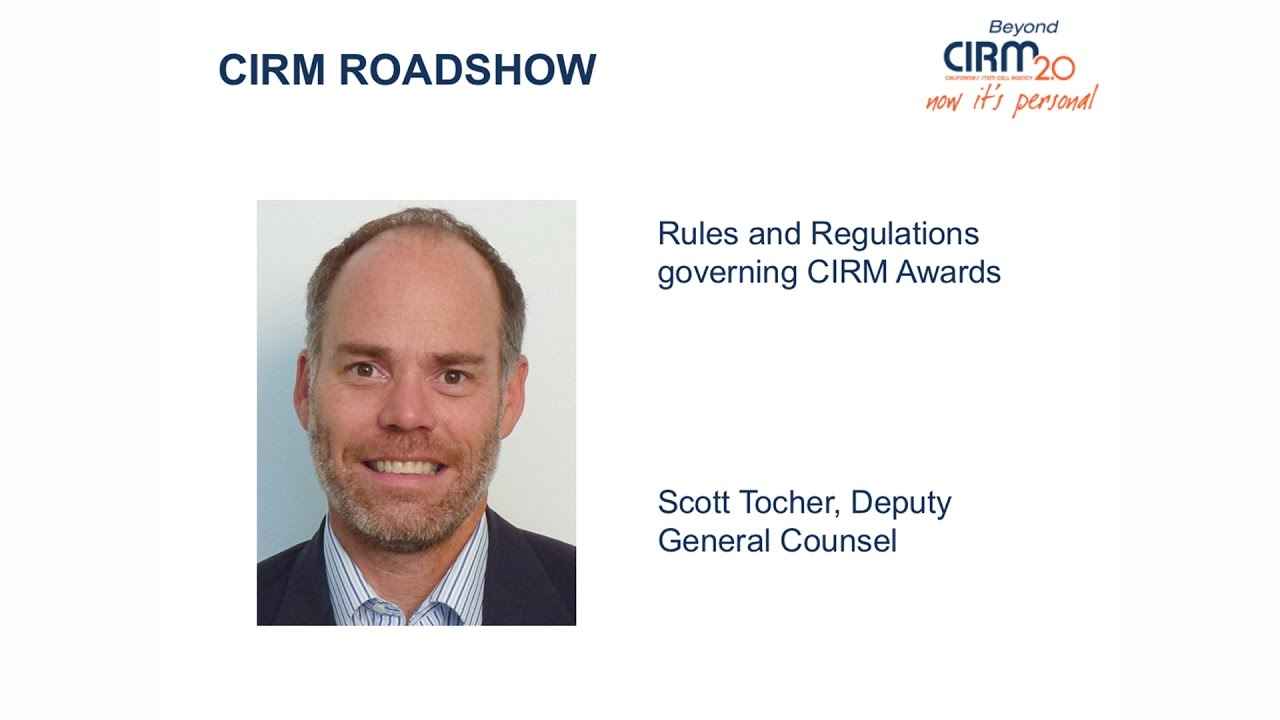 Rules and Regulations Governing Stem Cell Research Awards from CIRM