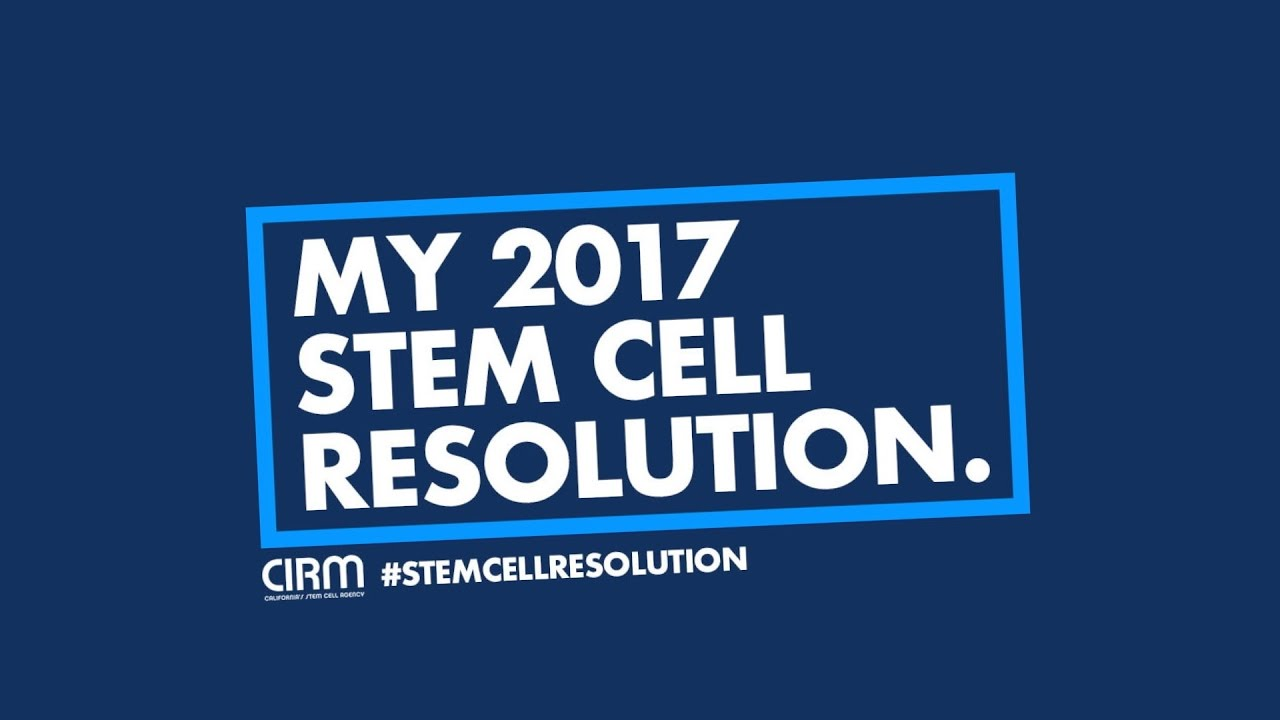 My 2017 Stem Cell Resolution